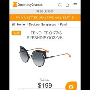 Fendi EYESHINE FF Black/Gray Gradient Sunglasses